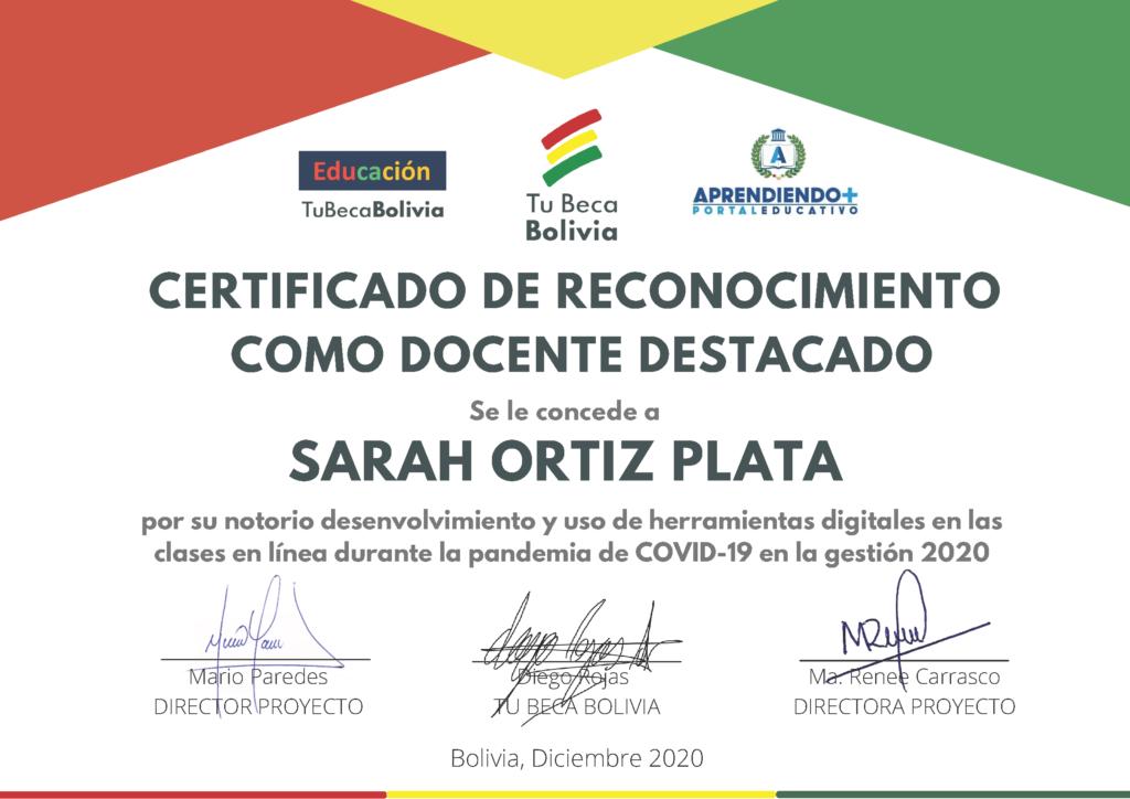 7_CERTIFICADO DE RECONOCIMIENTO Sarah Ortiz Plata