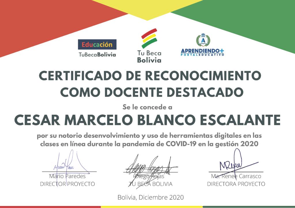 8_CERTIFICADO DE RECONOCIMIENTO Cesar Marcelo Blanco Escalante