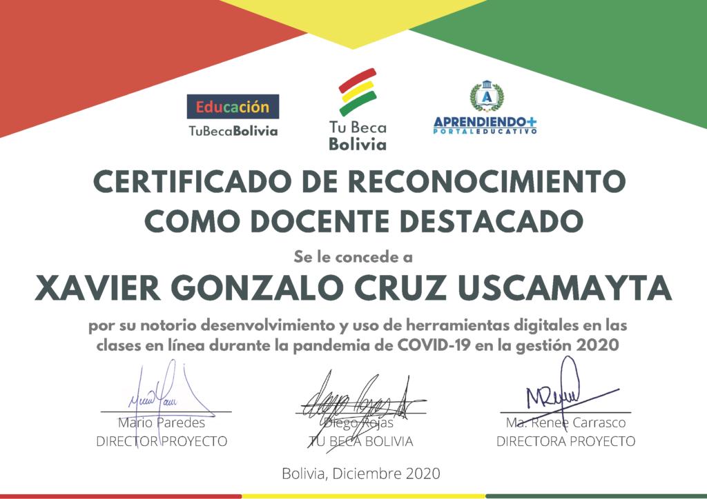 9_CERTIFICADO DE RECONOCIMIENTO Xavier Gonzalo Cruz Uscamayta