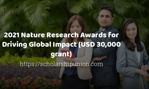 Nature Research Awards for Driving Global Impact